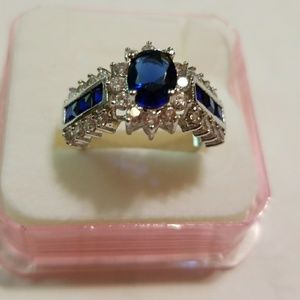 Women's Jewelry Size 7 New Blue Stone